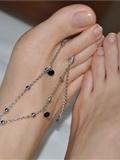 Fannie芬妮高清原图之精致女人的选择 秀美脚踝的魅惑(黑色)NO.234