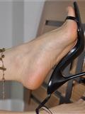 Fannie芬妮高清原图之精致女人的选择 秀美脚踝的魅惑(极致高跟黑)NO.235