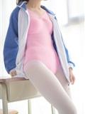 [森萝财团]萝莉丝足写真 R15-012 白丝粉红少女(9)